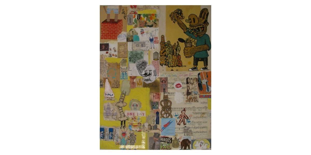 Heroes often fail, 2006, Technique mixte sur papier, 64,5 x 50 cm