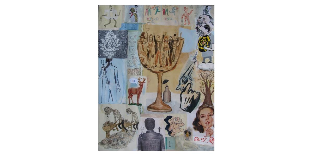 Untitled, 2011, Technique mixte sur papier, 83,5 x 65 cm