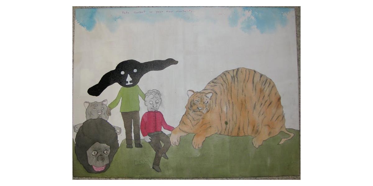 Untitled, 2010, Technique mixte sur bois, 46 x 61 cm, Neil Farber