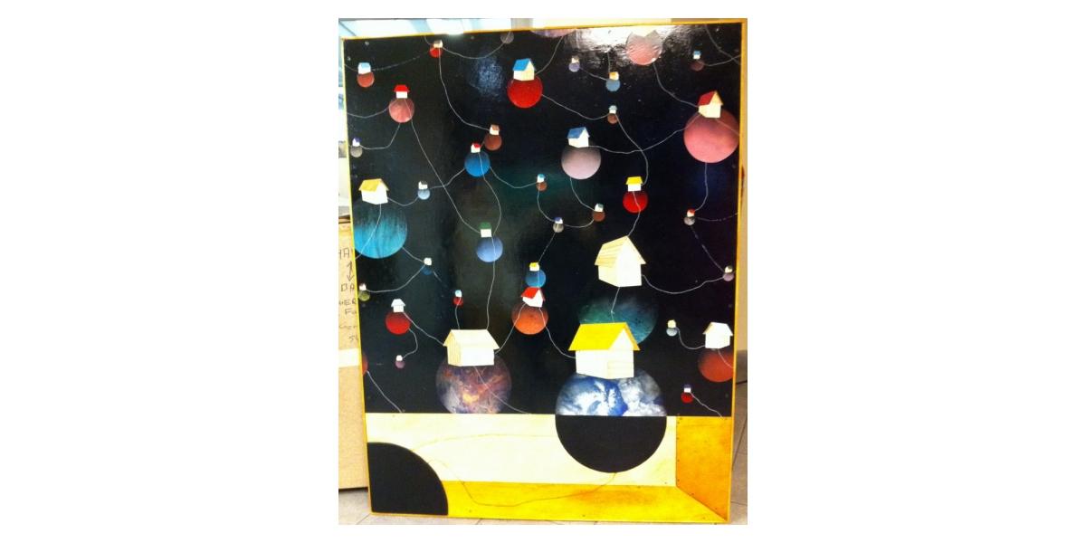 What Ever Happens to a Friend, 2011, Technique mixte sur bois, 130 x 100 cm, Adr