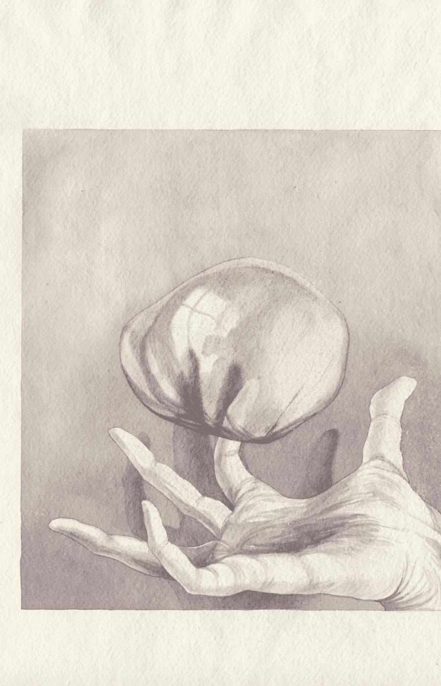 <b>Clément Bataille</b>, <em>Monade 3</em>, Gouache sur papier indien, 2020 /30x42cm