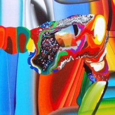 """Stretched bodies"""", acrylique sur toile, 72x36 inches, 2008"""