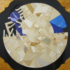 Untitled, 2011, technique mixte, collage sur bois, 98 x 91 cm, Adrian Williams