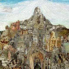 """""""Ideal Palace"""", huile et collage sur toile, 97 x 196 cm, 2010"""